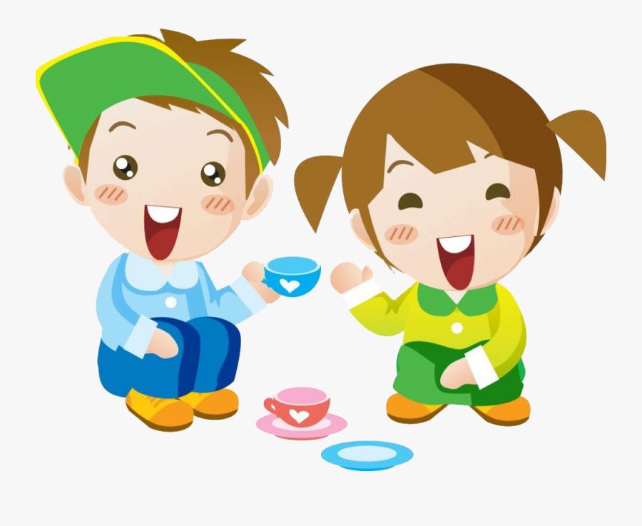 Child Cartoon Girl Boy - 男 女孩 卡通, Transparent Clipart