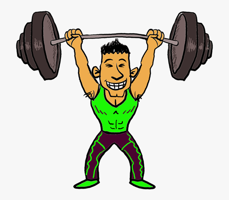 Cartoon Lifting Weights Png, Transparent Clipart