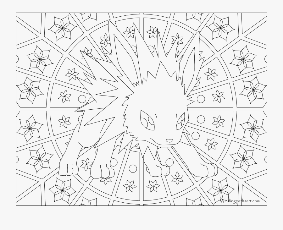 Pokemon Coloring Pages Images - Pokemon Adult Coloring Pages, Transparent Clipart