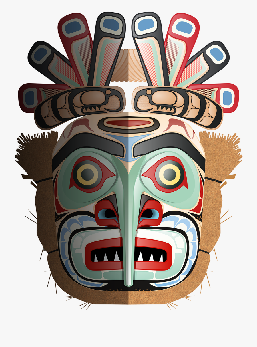 Clip Art Native American Images - Native American Tribal Mask, Transparent Clipart