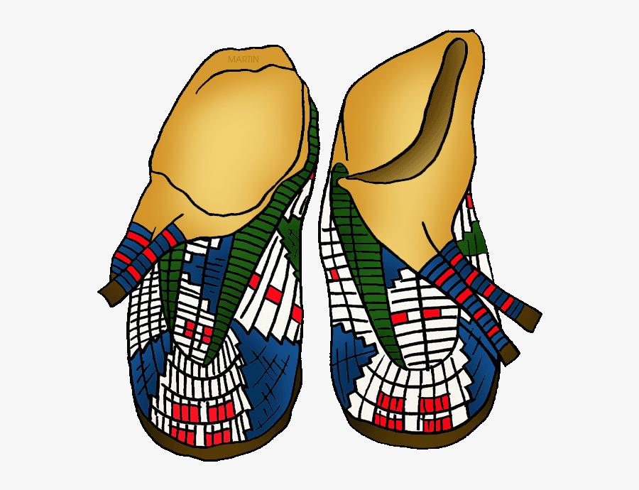 Native Americans Arts & Crafts - Moccasins Native American Clipart, Transparent Clipart