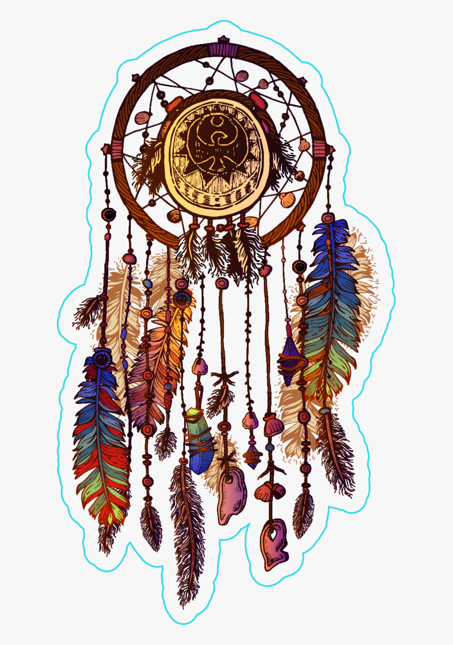 Dream Catcher Clipart Native American - Native American Tribal Dreamcatcher, Transparent Clipart