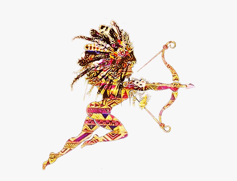 Ftestickers Silhouette Native American Archer Arrow - Native American Png Transparent, Transparent Clipart