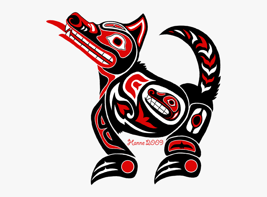 To All Things Native American - Pacific Northwest Indian Art Wolf, Transparent Clipart