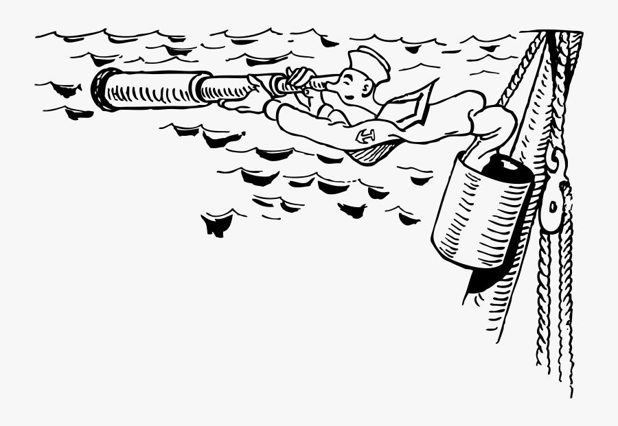 Sailor In Crow& - Sailor Lookout, Transparent Clipart