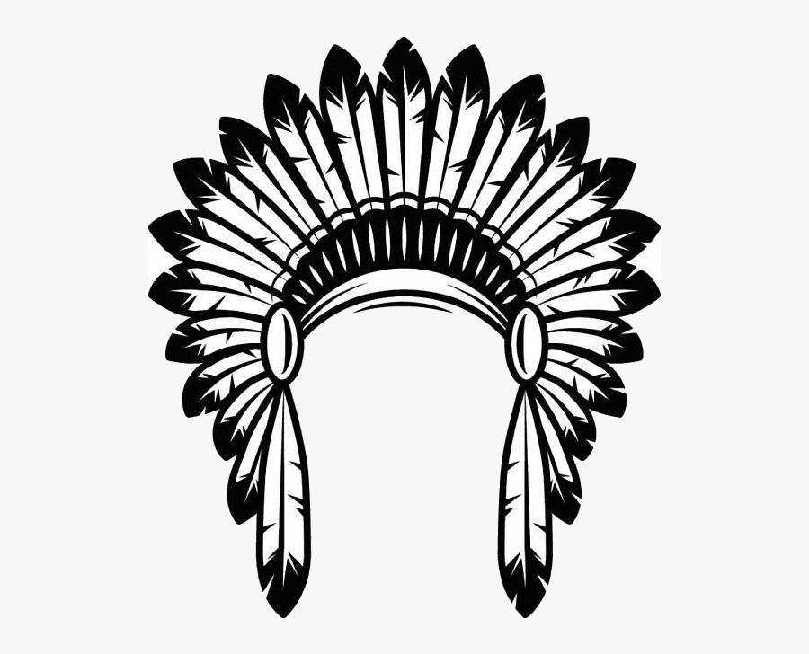 American Indians, Clip Art, Illustrations - Native American Headdress Png, Transparent Clipart