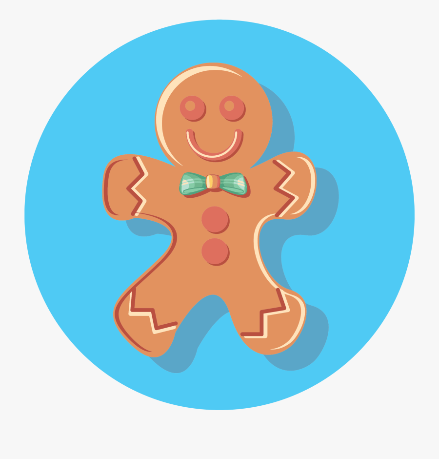 Man - Gingerbread Man Picture Png, Transparent Clipart