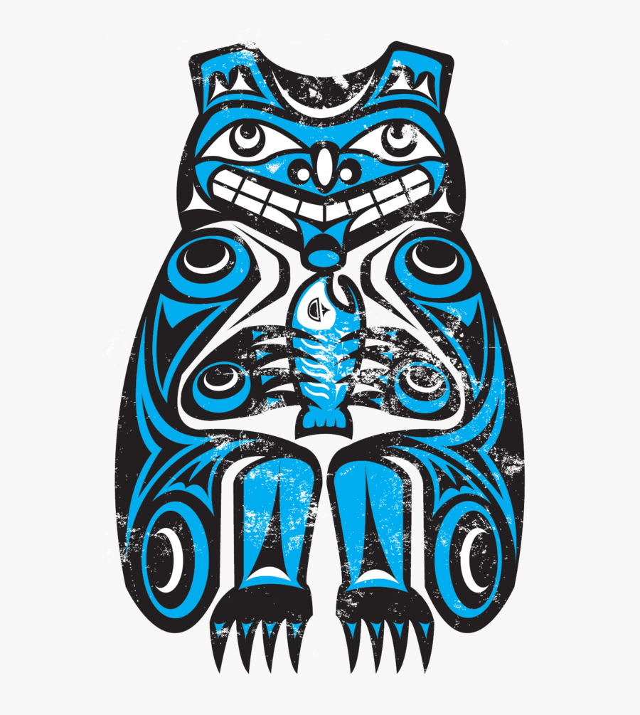 Northwest Native American Bear By - Native American Art Bear, Transparent Clipart