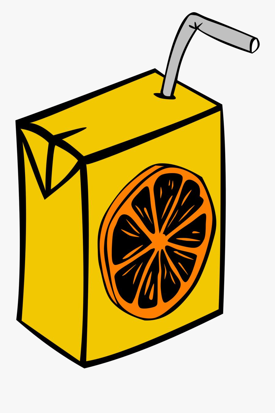 Drinks Clipart Fast Food - Orange Juice Box Clipart, Transparent Clipart
