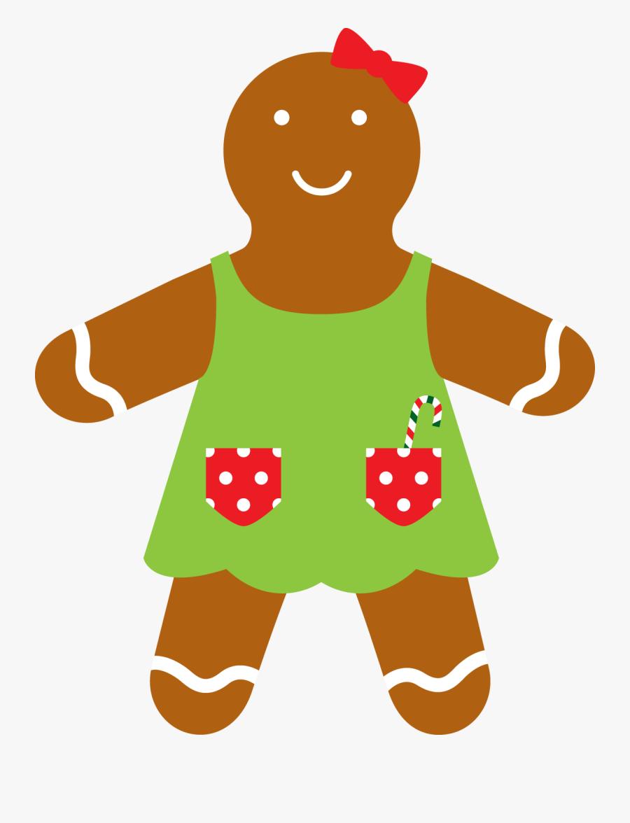 Cozinha - Gingerbread Man Png Clip Art, Transparent Clipart