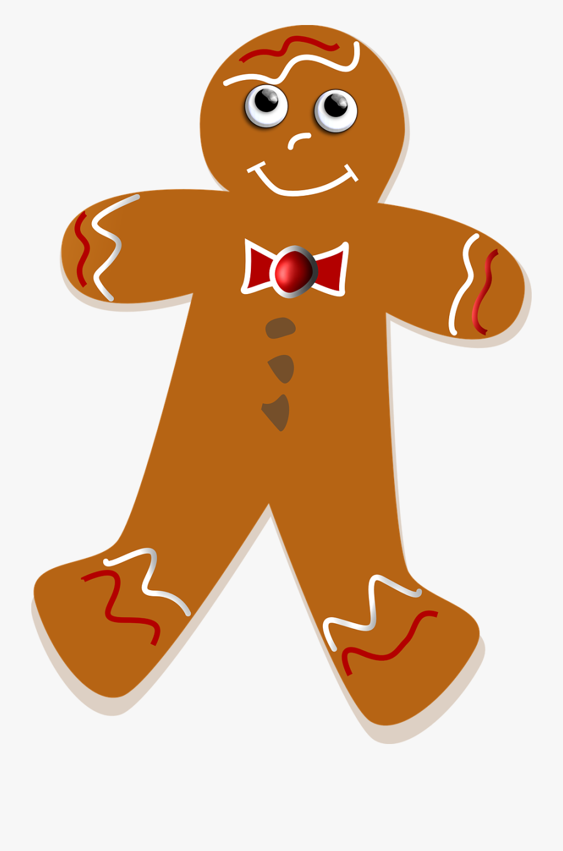Gingerbread Man Ginger - Gingerbread Man Png, Transparent Clipart