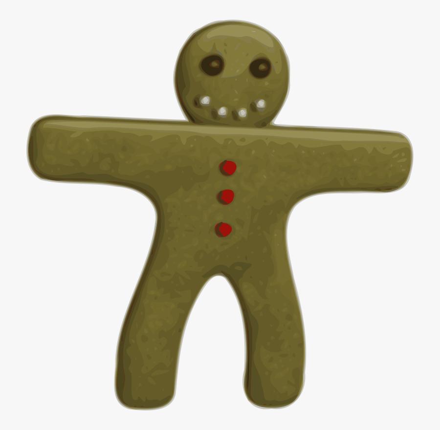 Gingerbread Man Svg Clip Arts - Gingerbread Man Clipart .png, Transparent Clipart