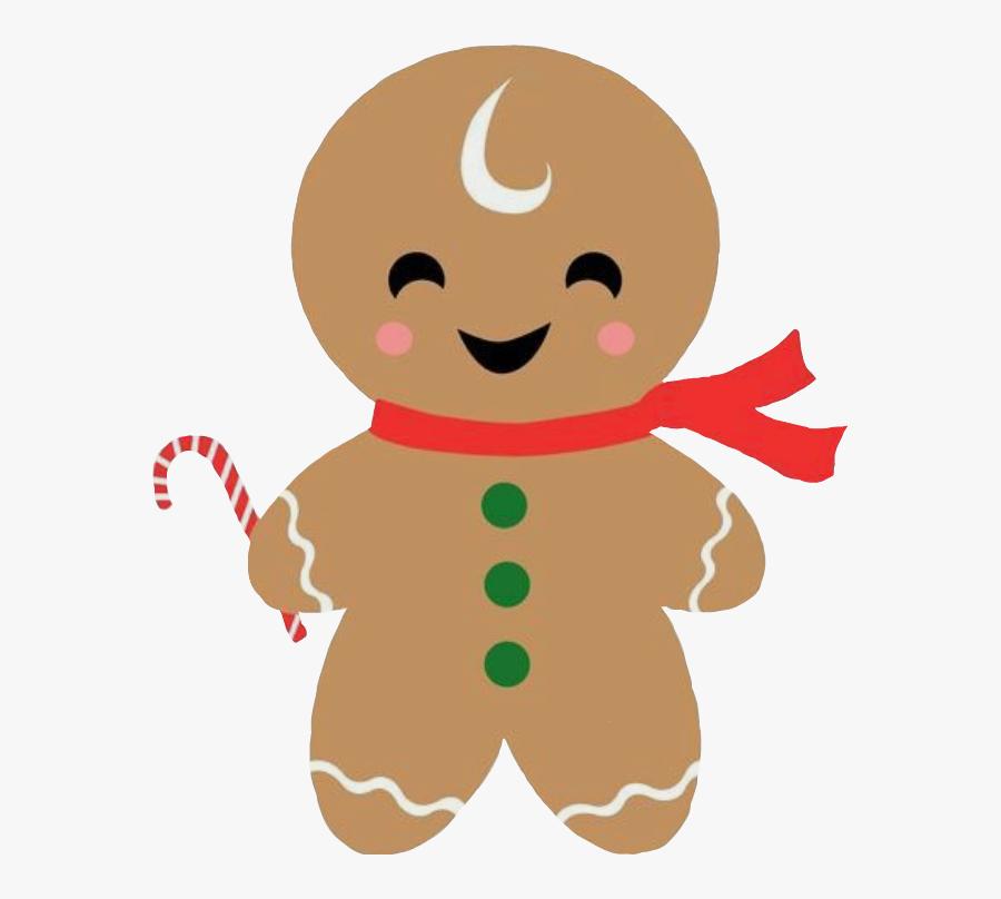 Transparent Gingerbread Man Png - Christmas Gingerbread Man Gift Tag, Transparent Clipart