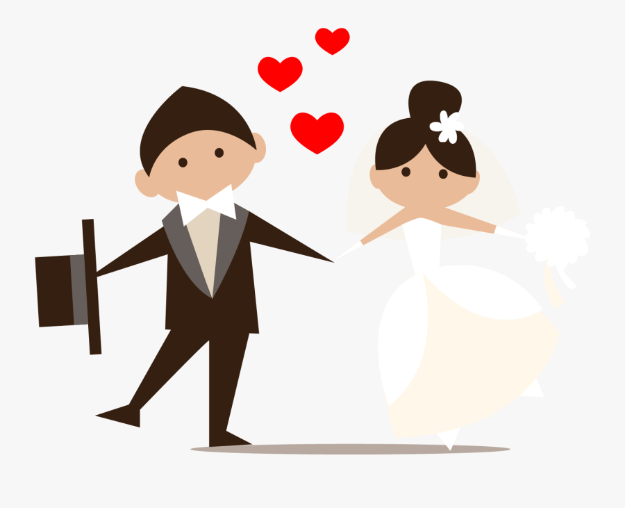 Wedding Marriage Icon - Wedding Couple Clipart Png, Transparent Clipart