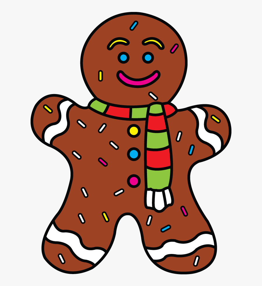 Clipart Stock Ginger Drawing Easy - Clip Art Christmas Ginger Bread Man, Transparent Clipart