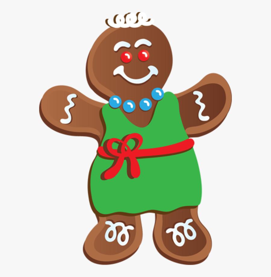 Transparent Gingerbread Girl Png - Gingerbread Man Clip Art, Transparent Clipart