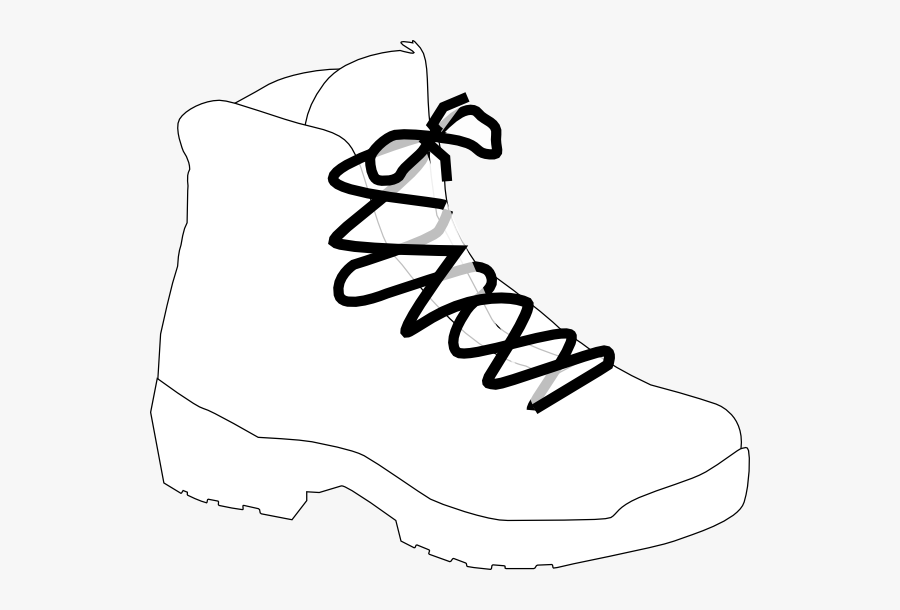 Clip Art White Boot - Hiking Boots Clipart Black And White, Transparent Clipart
