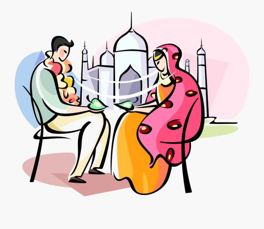 Groom Clipart Wedding Indian - Bride Groom Indian Vector, Transparent Clipart