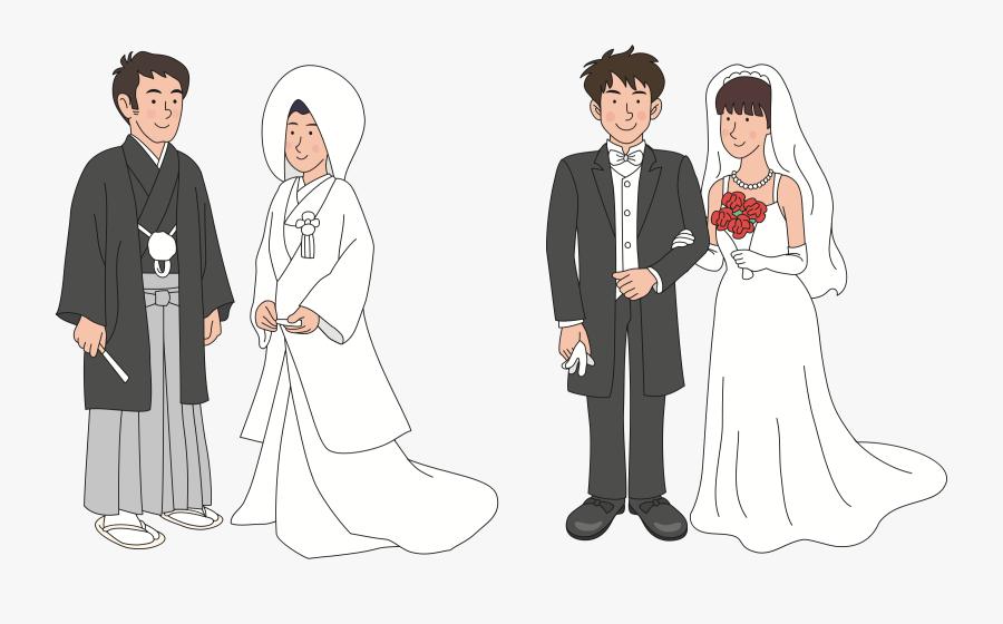Gown,black Hair,tuxedo - Japanese Wedding Png, Transparent Clipart