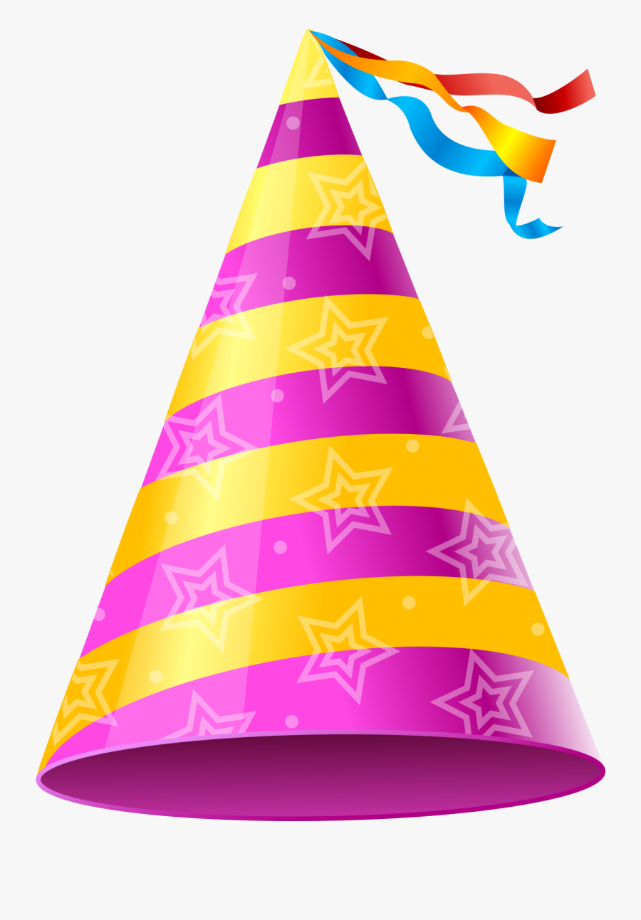 Birthday Png Cap Clip Art Free Download Searchpng - Pink Party Hat Clipart, Transparent Clipart