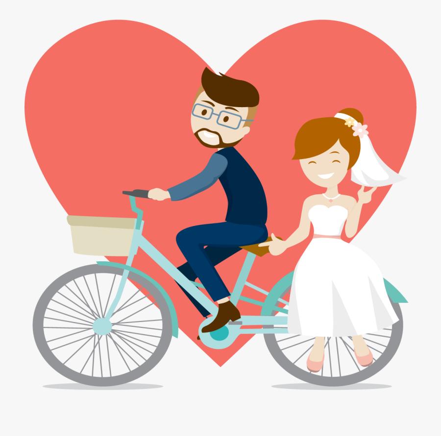 Wedding Invitation Marriage Engagement Bride - Engagement Couple Cartoon Png, Transparent Clipart