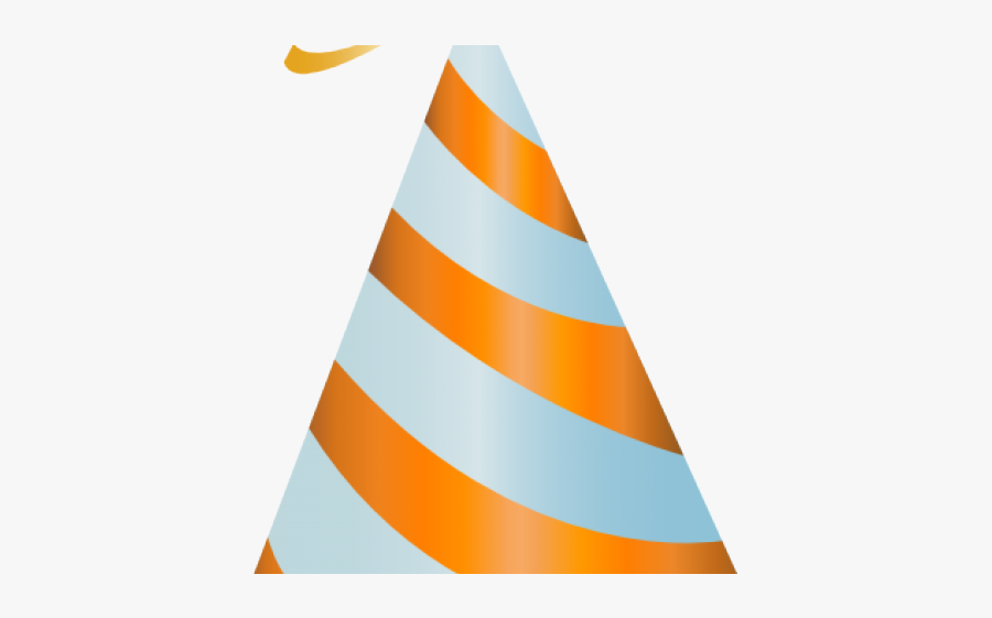 Birthday Hat Clipart 3rd Birthday - Transparent Orange Birthday Hat, Transparent Clipart