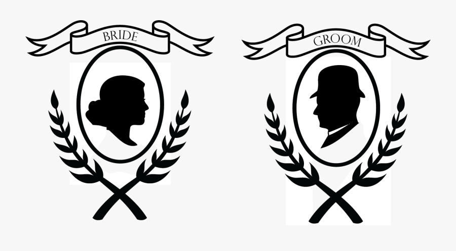 Bride And Groom Motif - Bride And Groom Logo Design, Transparent Clipart