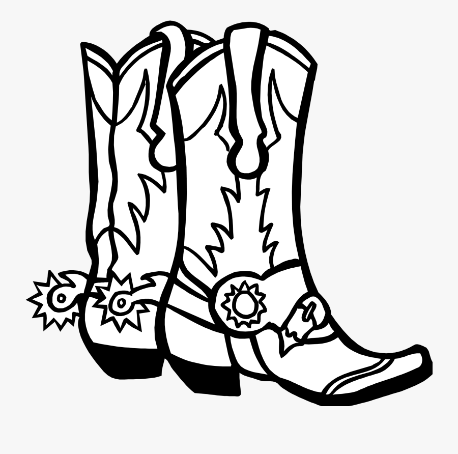 Cowboy Boots Drawing Easy, Transparent Clipart