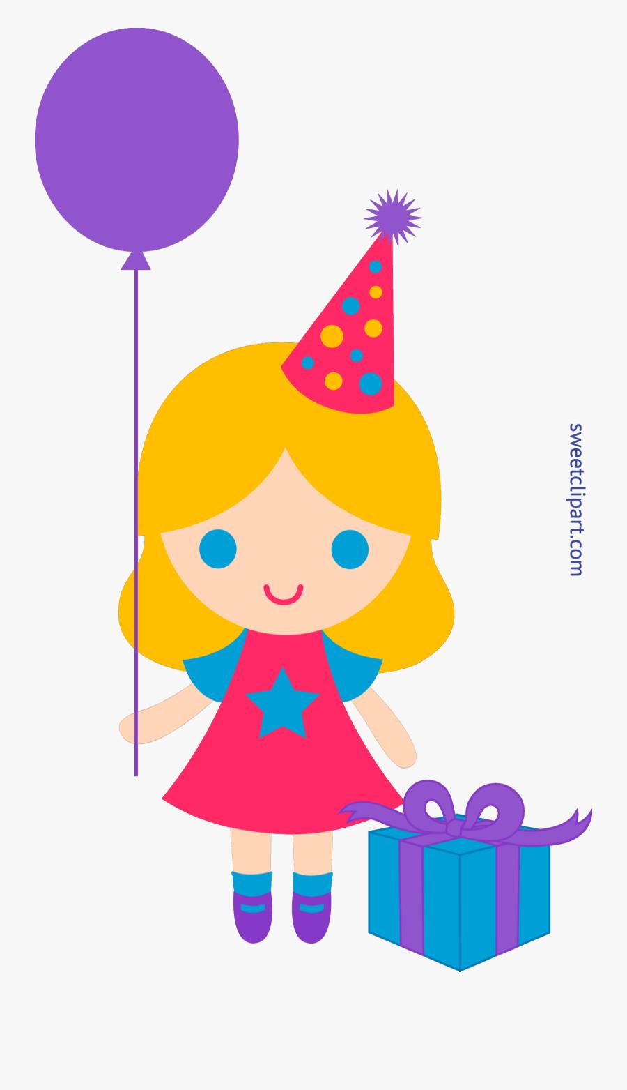 Birthday Girl Clip Art - Happy Birthday Girl Clipart, Transparent Clipart