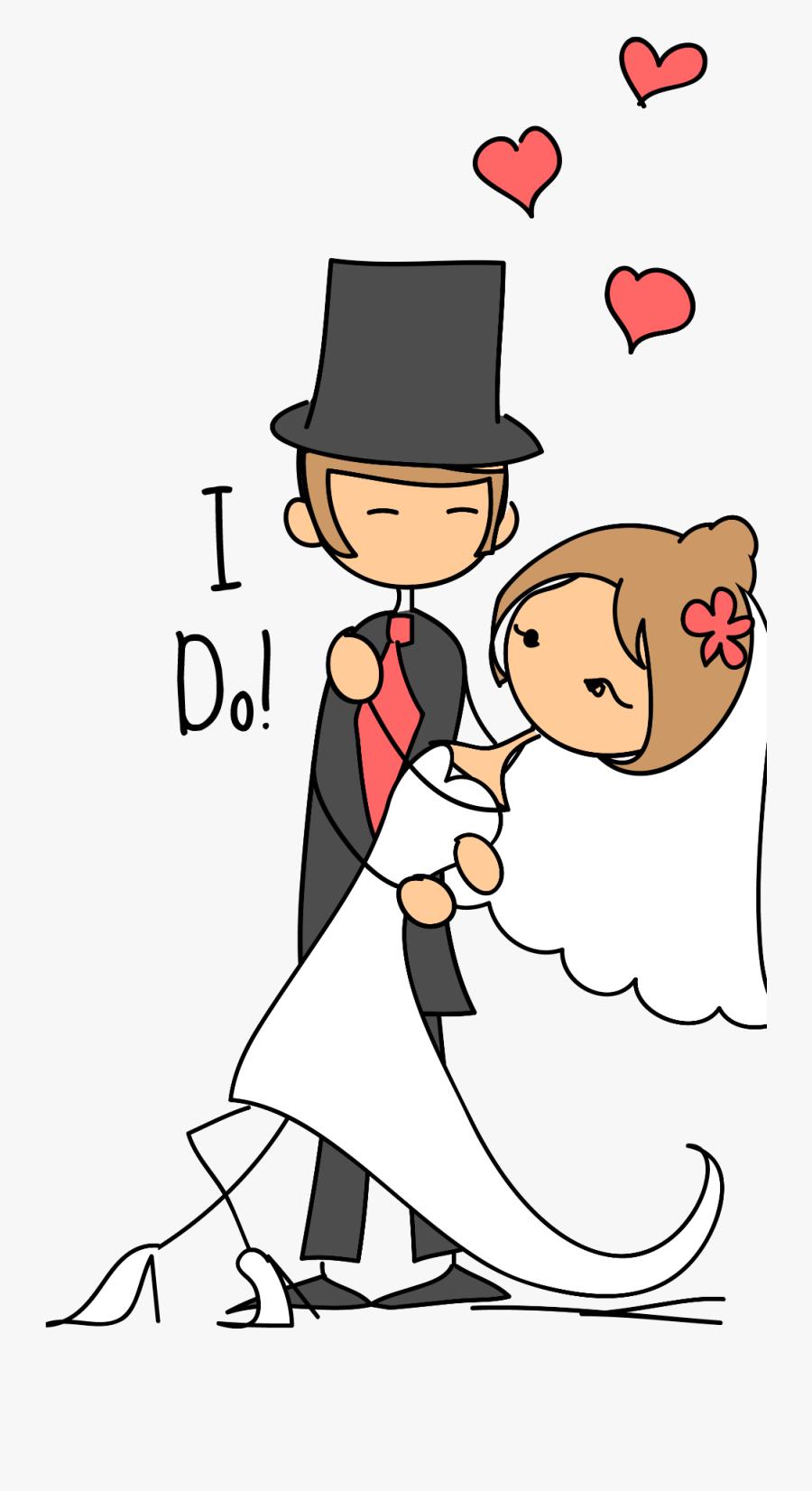 Transparent Hug Png - Wedding Couple Drawing Png, Transparent Clipart