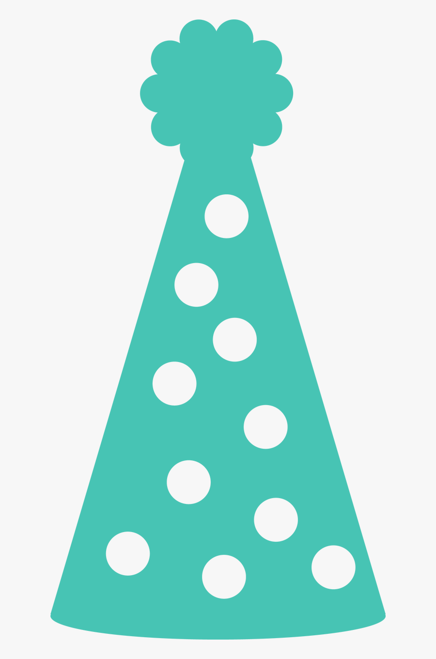 Hd Party Hat - Polka Dot, Transparent Clipart