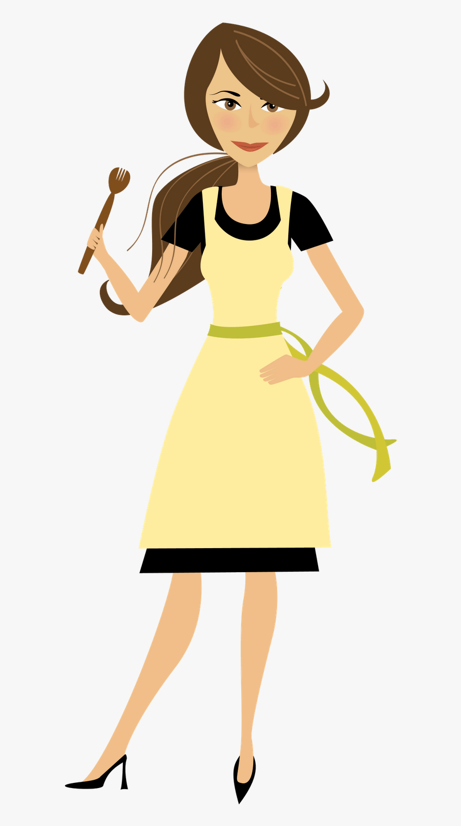 Cooking Mom Clipart - Transparent Background Cartoon Woman ...