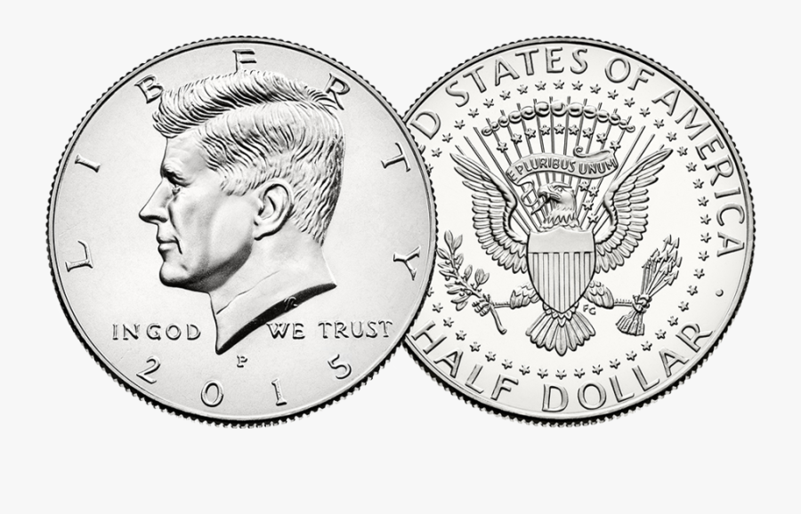 Half Dollar Coin Clipart United States Mint Kennedy - 2017 Kennedy Half Dollar, Transparent Clipart