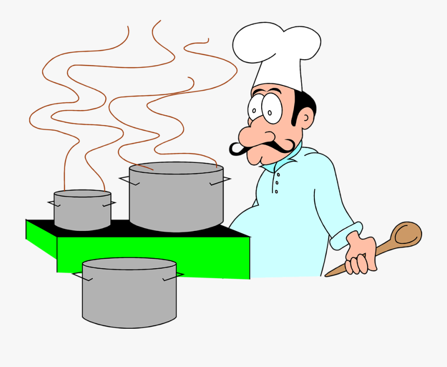 Free Stock Photo - Cartoon Chef, Transparent Clipart