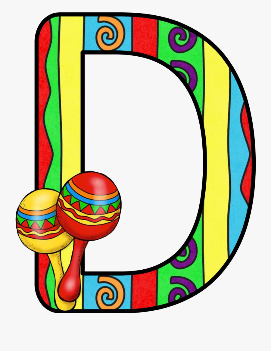 December Clipart Lettering - Cinco De Mayo Letter D, Transparent Clipart