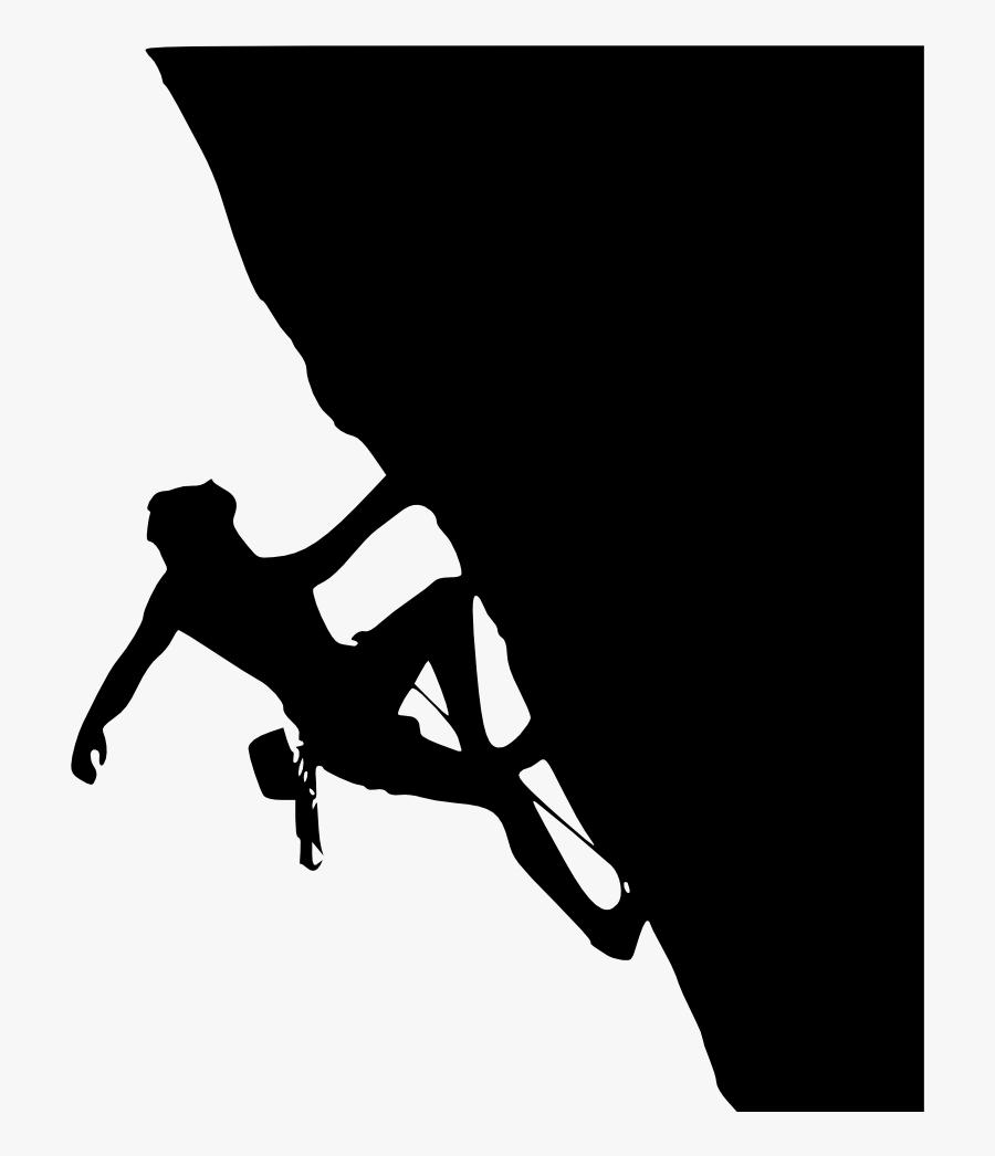 Clip Art Rock Climber Silhouette Clip Art - Rock Climbing Silhouette, Transparent Clipart