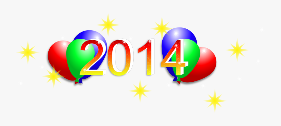Happy New Years 2014 Clip Art Happy New Year - 2014 Clipart, Transparent Clipart