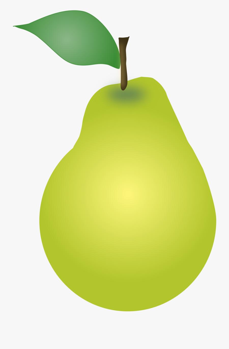 Plant,apple,food - Clip Art Fruit Pear, Transparent Clipart