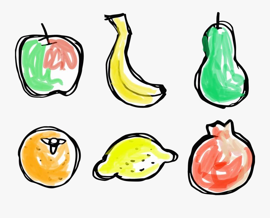 Plant,food,fruit - Sketsa Buah Buahan, Transparent Clipart
