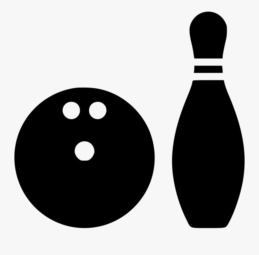 Clip Art Bowling Ball - Bowling Bowl And Pin, Transparent Clipart