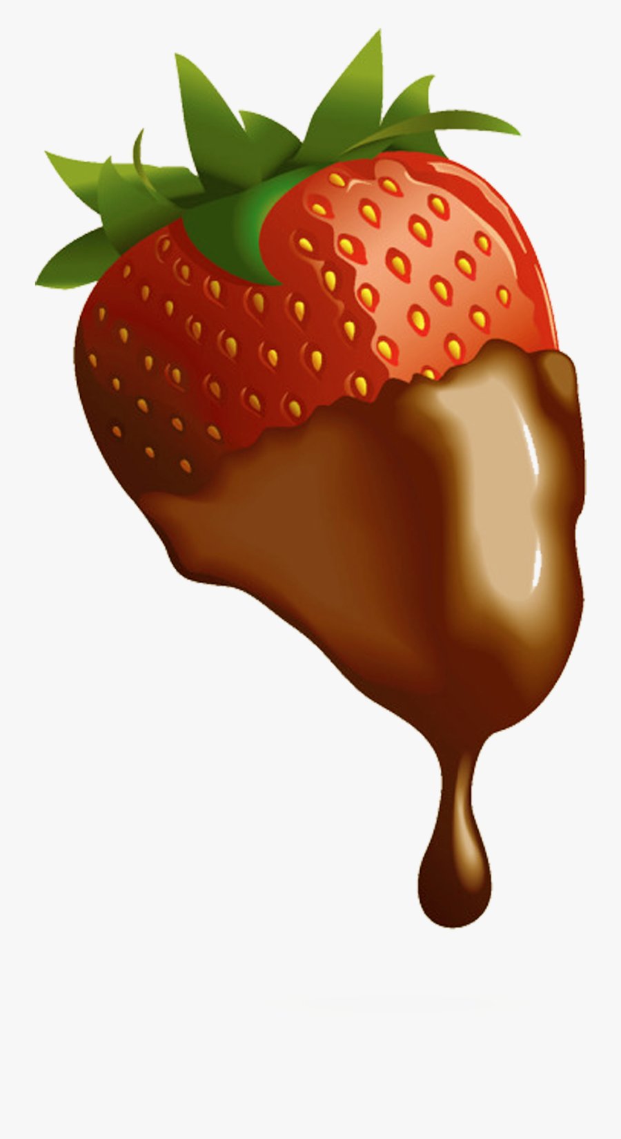 Strawberry Chocolate-covered Fruit Clip Art - Chocolate Covered Strawberries Transparent, Transparent Clipart