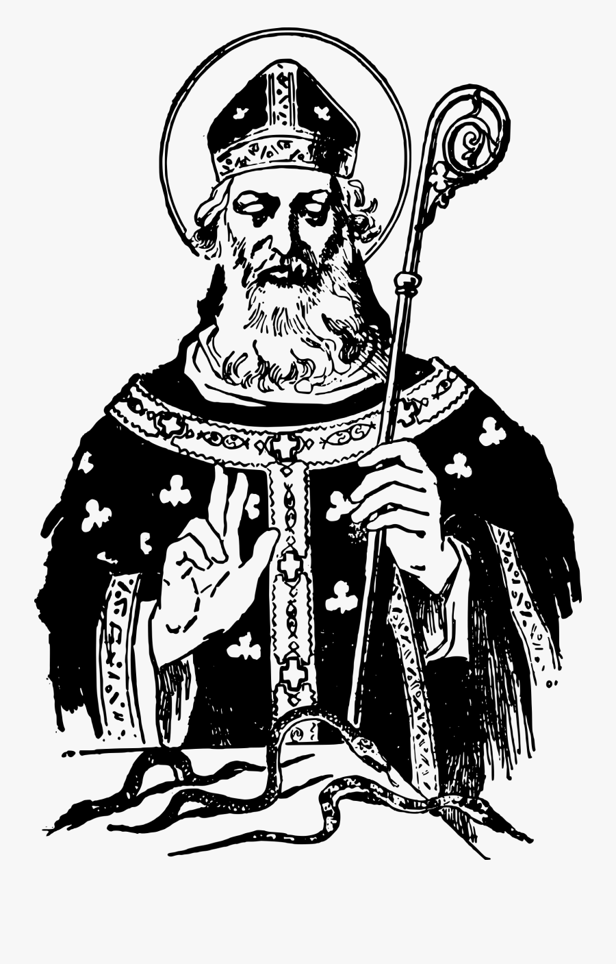 Catholic Saint Patrick Clipart, Transparent Clipart