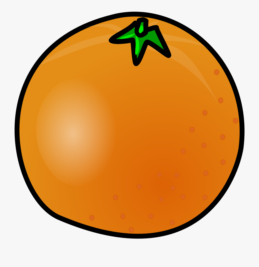 Orange Clip Art Free Free Clipart Images - Animated Picture Of An Orange, Transparent Clipart