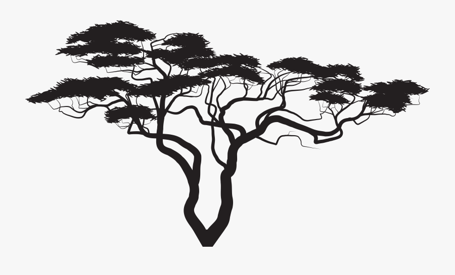 Silhouette Tree Royalty-free Clip Art - Silhouette Tree Clipart Png, Transparent Clipart