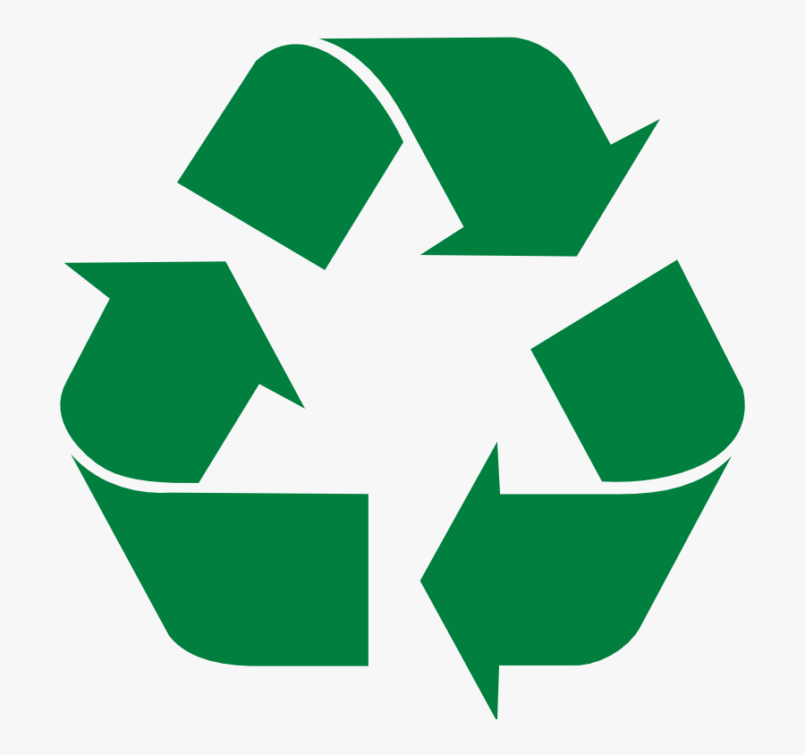 Clipart - Green Recycling - Clip Art Recycling Logo, Transparent Clipart