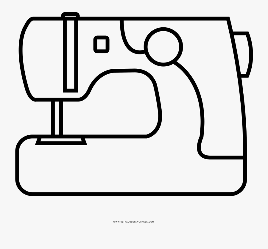 Sewing Machine Coloring Page - Imagenes De Maquina De Coser Para Colorear, Transparent Clipart