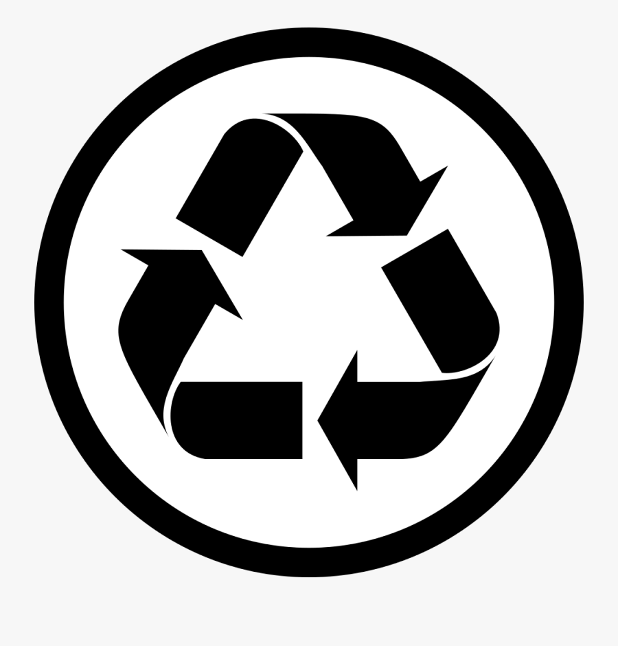 Clip Art Recycling Symbol Reuse Paper - Recycle Symbol Small, Transparent Clipart