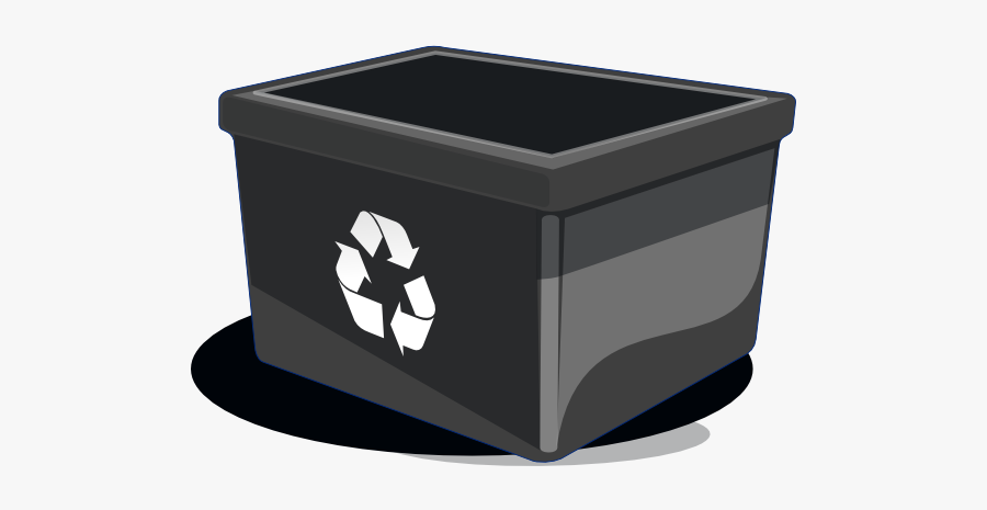 Recycle Clip Art At - Black Recycle Bin Clipart, Transparent Clipart
