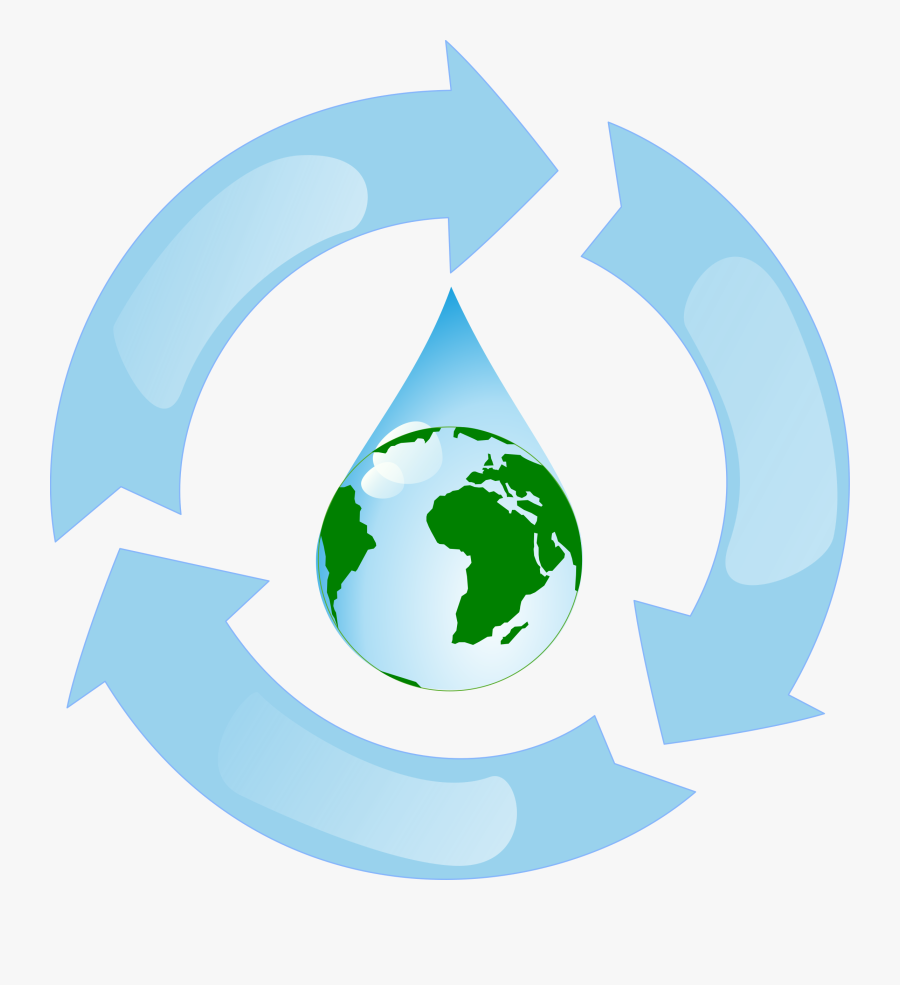 Water Recycling - Recycling Water, Transparent Clipart