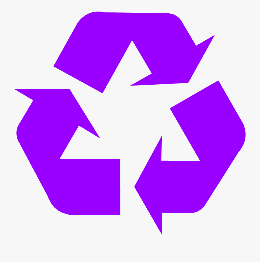 Download Recycling Symbol - Purple Recycle Symbol, Transparent Clipart